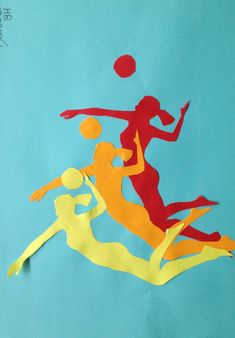 In this activity, pupils will use imagery of figures playing a sport linked to the Olympics to create a collage. Rhythm Art, Intro To Art, 7th Grade Art, Middle School Art Projects, Art Curriculum, Principles Of Art, Art Lessons Elementary, Arts Ed, Collages