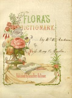 Flora's dictionary /by Mrs. E.W. Wirt.