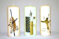 Bildergebnis für trauerkerzen selber gestalten Pillar Candles, Candles, Manualidades, Decorating Candles, Candle Art