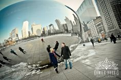 Winter Engagement session in Chicago by Kamila Harris Photography