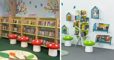 Trendy Ideas for library seating ideas reading corners School Library Design, Kids Library, Library Room, Class Library, Book Corners, Reading Corners, Library Themes, Library Ideas, Library Furniture