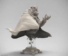 Disney's Beast 3D character Zbrush Sculpt (Ruben Procopoi Design) by Sony artist Bryan Wynia of Santa Monica, California!!!