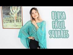 BLUSA FÁCIL DE SQUARES - CROCHÊ - YouTube