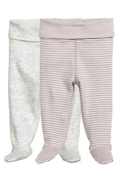 2-pack leggings with feet: CONSCIOUS. Leggings in soft organic cotton jersey…