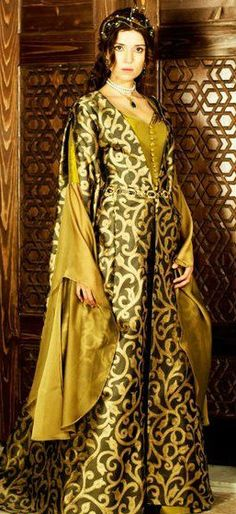 Selma Ergeç, Turkish Actress at Magnificent Century TV-Series. Kaftan, Selma Ergec, Kosem Sultan, Medieval Dress, Kurdistan, Fantasy Dress, Abayas, Historical Clothing, Costume Design