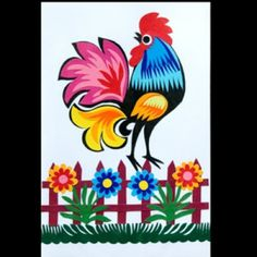 Rooster - Polish folk art