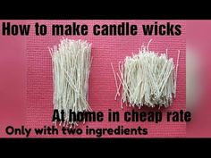 How to make candle wicks at home in two ingredients in cheap rates and in 3 mins. Material used: Wax, cotton thread cord .