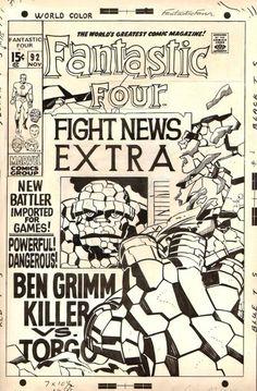 brianmichaelbendis: Fantastic Four #92 by Jack Kirby & Joe Sinnott