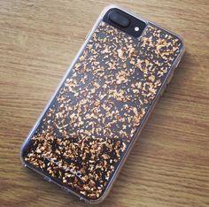 Rose gold, karat, case mate, iPhone, matte black, iPhone 7 plus, pretty