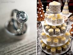 Toronto Yellow Grey Wedding. Love the cupcakes instead of a full cake.