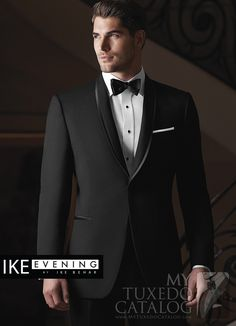 "Black Shawl Tuxedo with Black Satin Trim 'Waverly"". Available as a Slim fit! http://www.mytuxedocatalog.com/catalog/rental-tuxedos-and-suits/C1008-Black-Shawl-Black-Trim-Waverly/"