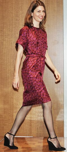 Coppola (again). Hadn't realized this girl wears so many short sleeve dresses. Officially inspired.