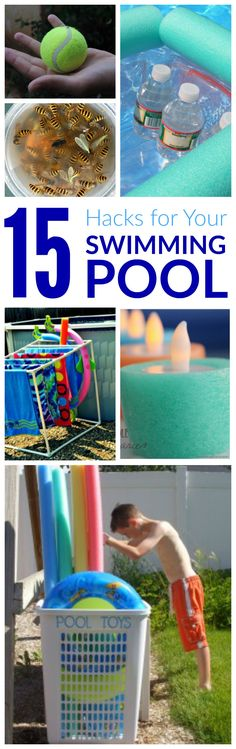 Swimming Pool HACKS for Summer! Ideas to get the most fun and organization poolside with kids!