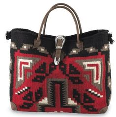 Two Bar West Navajo inspired tote