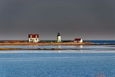 Goat Island Lighthouse in Cape Porpoise, ME.