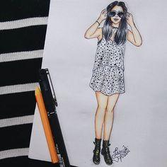 De hoje @_fashionlush_ ◼◻ #draw #drawing #fashion #love #inlove…