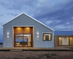 Beautiful contemporary farmhouse harnesses all of its water supply onsite