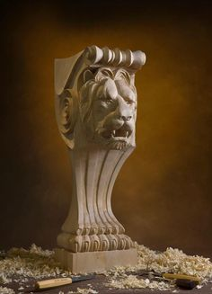 Carved Lion head corbel for Kitchen bar. http://ift.tt/2oI1Zcx