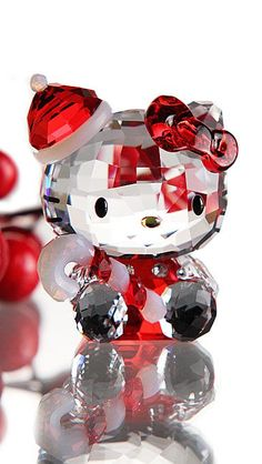 612bcf7c0 REFLECTIONS. Santa Figurines, Christmas Figurines, Hello Kitty Items, Sanrio  Hello Kitty, Swarovski Crystal ...