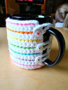 74 Free Crochet Cozy Patterns Just Waiting for You to Make - DIY & Crafts #coffeemugs