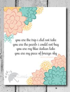 You are the trip I did not take wall art quote by LittleRainyLane