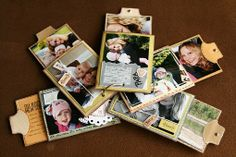 tp mini - focus is on the photos, very little embellishing; note the stitching around one of the pages