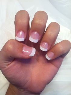 French Tip Acrylic - perfect amount of white and I love how it's rounder than the normal square!