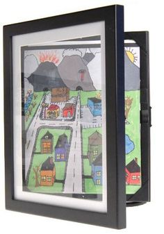 Lil Davinci Art Cabinet Proudly display and archive your child's artwork in an instant. This unique art cabinet will display and store 50 cherished Childrens Artwork, Kids Artwork, Toddler Artwork, Picture Frame Store, Picture Frames, Artwork Display, Frame Display, Display Case, Display Ideas