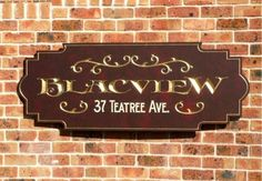 Blacview House Sign / Danthonia Designs