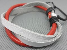 Shoply.com -Fashion leather bracelet with red and White  LB20. Only $3.50