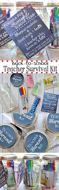 Back to School Teacher Survival Kit Free Printables ~ with Sharpies, hand sanitizer, caffeine, and chocolate! #StaplesBTS #PMedia #ad   FiveHeartHome.com