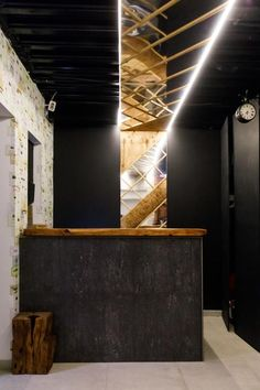 Winewood Moscow Lounge Hotel - small, hotel with industrial vibe, predominant wooden furniture and a wine bar (winewood? Wooden Furniture, Moscow, Russia, Industrial, Lounge, Wine, Bar, Room, Design
