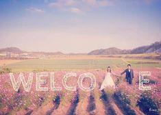 新郎新婦がMの文字になる、WELCOMEポーズが素敵!