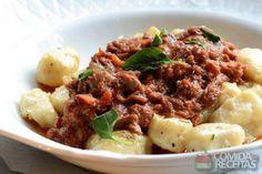 Receita de Nhoque de batata ao ragu de ossobuco em receitas de massas, veja essa e outras receitas aqui!