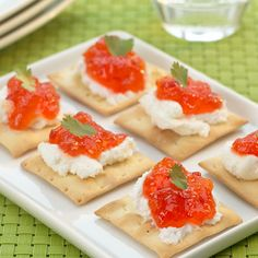 http://www.stonewallkitchen.com/goat-cheese-and-red-pepper-jelly-R100005.html