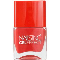 Nails inc Gel Effect Nail Polish, Regent's Park Place 0.47 oz (14 ml) ($15) ❤ liked on Polyvore featuring beauty products, nail care, nail polish, nails, beauty, fillers, gel nail color, nails inc nail polish, nails inc. and summer nail color