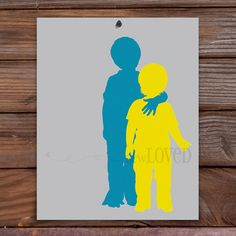 Custom Art Full Figure Silhouettes 8x10 by sewlovedshop on Etsy, starting at $30.00