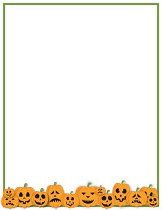 Printable Happy Halloween border. Use the border in Microsoft Word ...