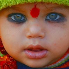 Orcha, India - beautiful child. Look at those eyes and lips!