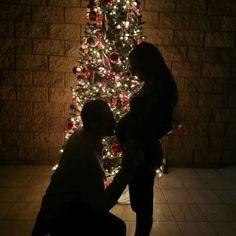 Pregnancy Christmas silhouette