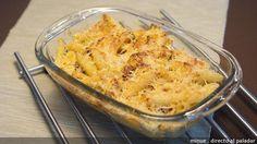 macarrones al queso con chorizo - Está buena, pero prefiero con tomate y chorizo, más ligera, más rápida, más rica