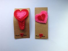 Items similar to Set of handmade felt heart hair clips or brooches for babies, toddlers and little girls on Etsy Felt Hair Clips, Heart Hair, Name Banners, Handmade Felt, Little Girls, Brooch, Unique Jewelry, Projects, Accessories