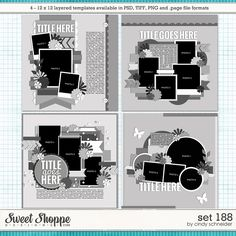 Cindy's Layered Templates - Set 188 by Cindy Schneider