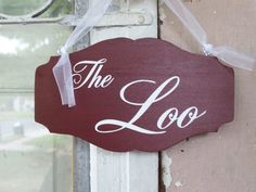 Bathroom Sign The Loo Wood Vinyl Restroom Sign Powder Room Sign Bath WC English Rustic Red Door Hanger Door Sign Door Decor Home Decor Signs Washroom Sign, Bath Sign, Bathroom Doors, Wood Bathroom, Powder Room Signs, Bathroom Accents, Wood Vinyl, Vinyl Signs, Decorative Signs