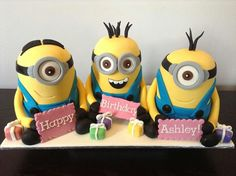 ..cool minion birthday cake