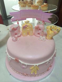Baby shower cake, pink cake for baby girl