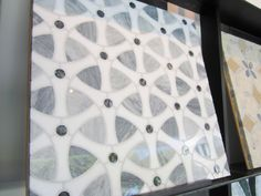 black and white mosaic wall tile marble - possible for half wall under chalkboard