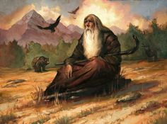 Radagast the Brown artwork from the lord of the rings