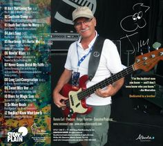 Back cover of the Luckiest Man with Jim Mouradian. Photo by Tom Hazeltine.