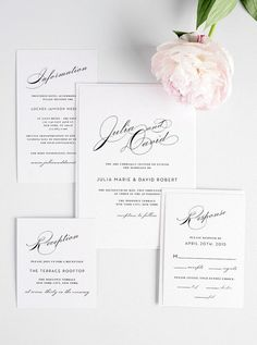 Calligraphy Wedding Invitation Elegant by ShineInvitations Silver Wedding Invitations, Wedding Invitation Suite, Elegant Wedding Invitations, Wedding Stationary, Gray Weddings, Vintage Glam, Special Day, Our Wedding, Reception